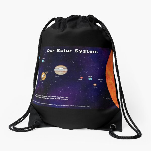 Cute Planets - A Solar System Poster Drawstring Bag