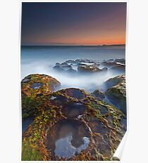 Craters at Boomer Beach Poster