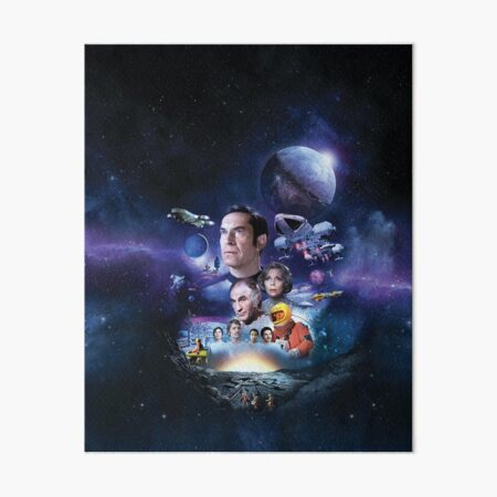 SPACE: 1999 ART-002  NO LOGO with nuclear explosion behind the Moon Art Board Print