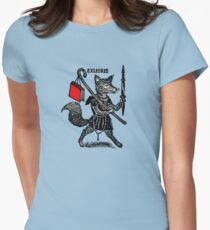 Ex Libris with Fox and Book Womens Fitted T-Shirt