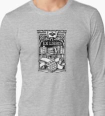 Ex Libris with Library and Shield Long Sleeve T-Shirt