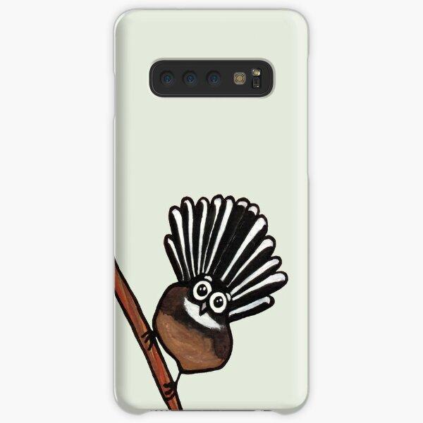 Cute Fantail - clock ft. Te Reo Maori numbers Samsung Galaxy Snap Case