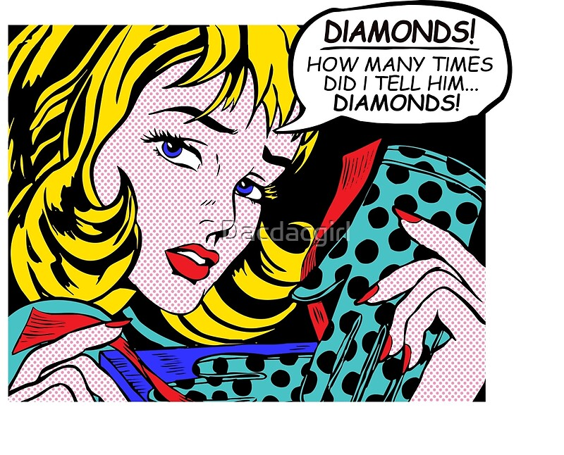 Roy Lichtenstein Comic Art - Girl with Gloves\