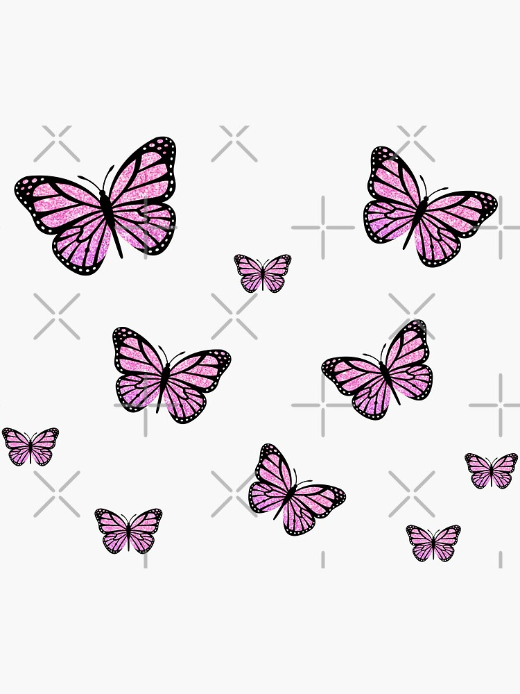Pink Glitter Butterfly Pack by Jmakesart