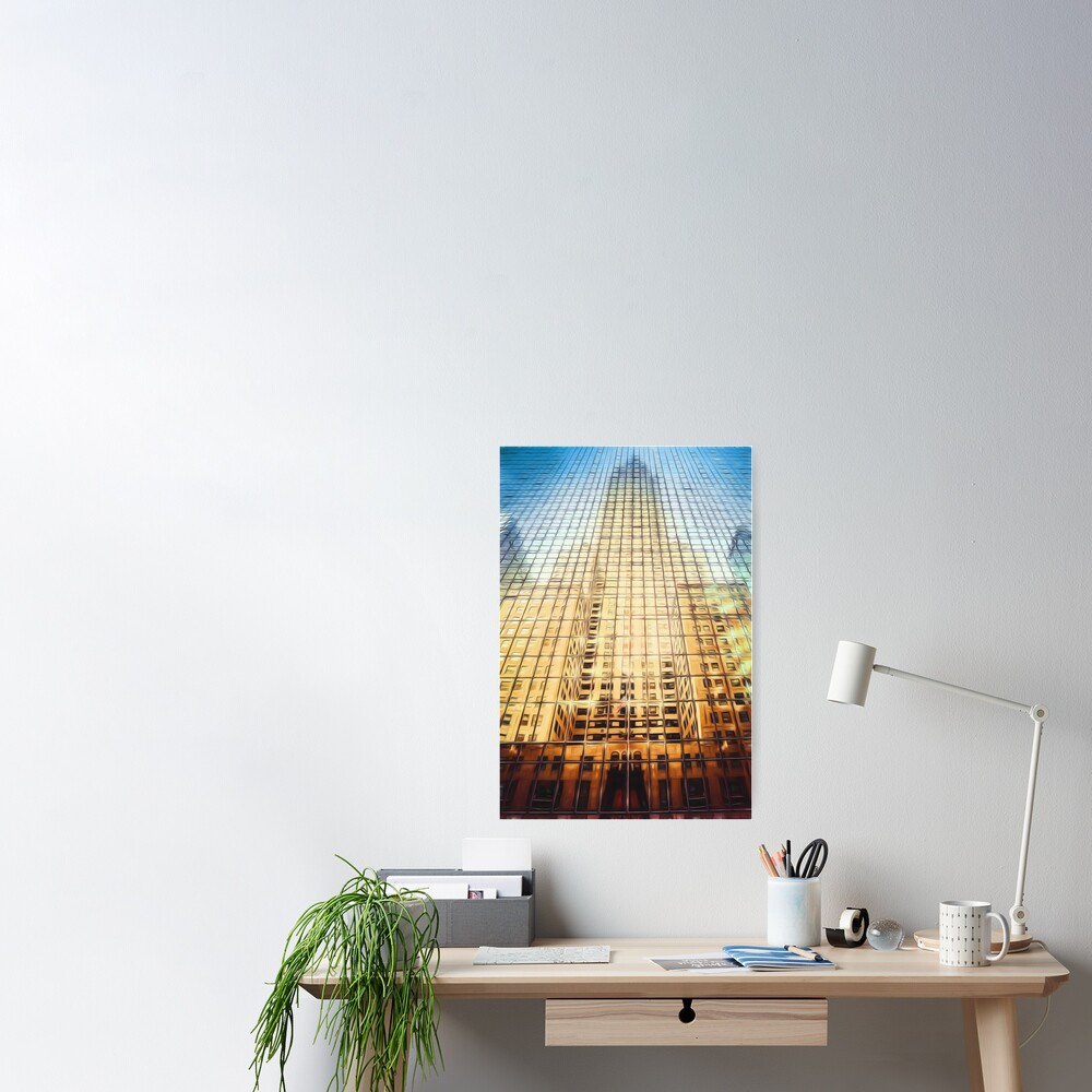 Reflective Empire (digital painting) Poster