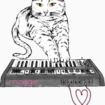 Synth Cat - Moggie by coltrane
