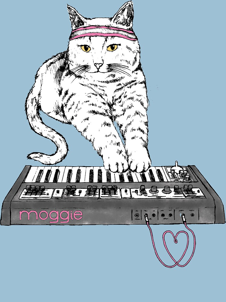 Synth Cat - Moggie | Women's T-Shirt