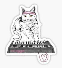 Synth Cat - Moggie Sticker