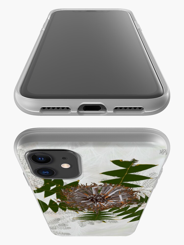 Alternate view of Cream Banksia Drawing, native flora, West Australian wildflower. iPhone Case & Cover