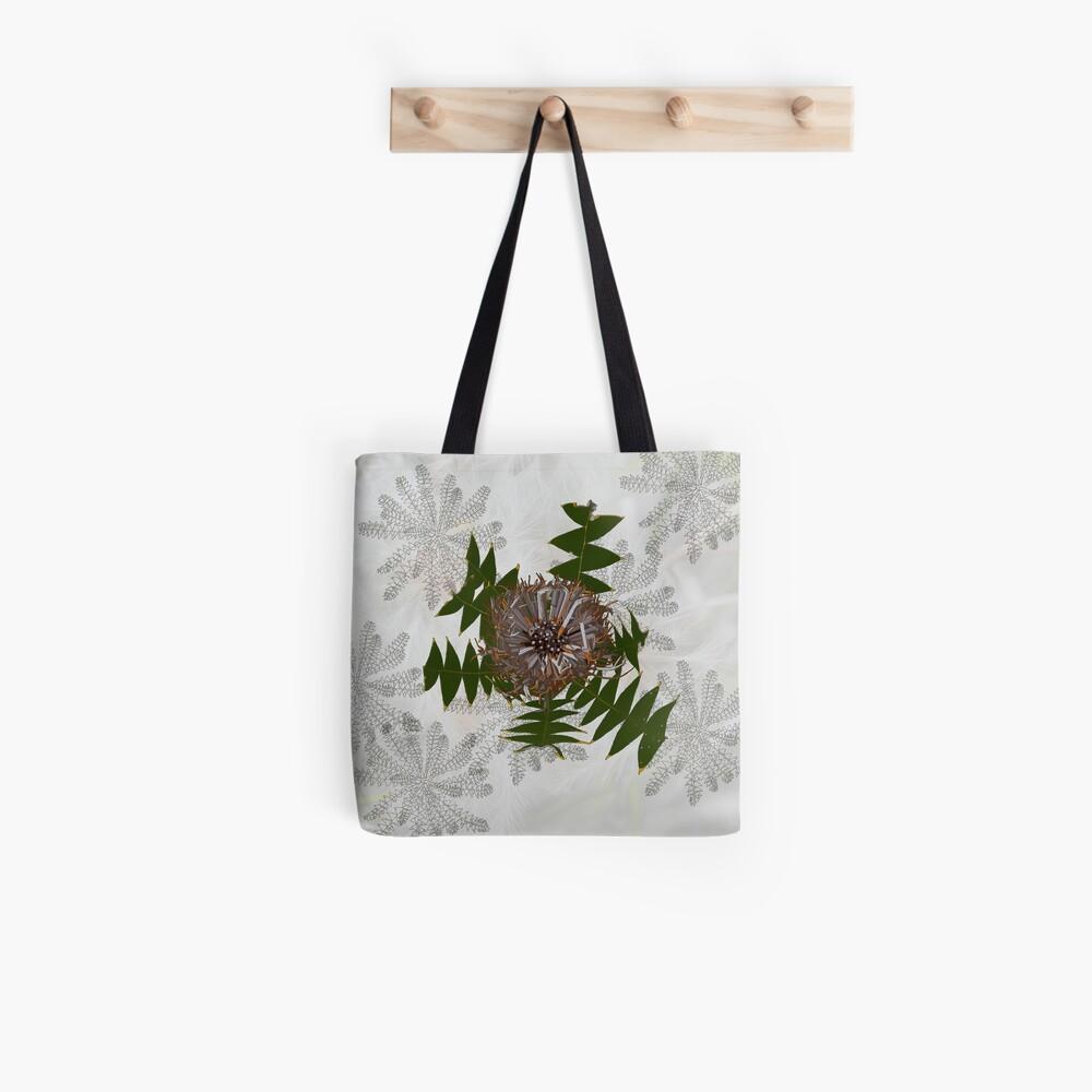 Banksia baxteri, Cream Banksia Drawing, native flora, West Australian wildflower. Tote Bag