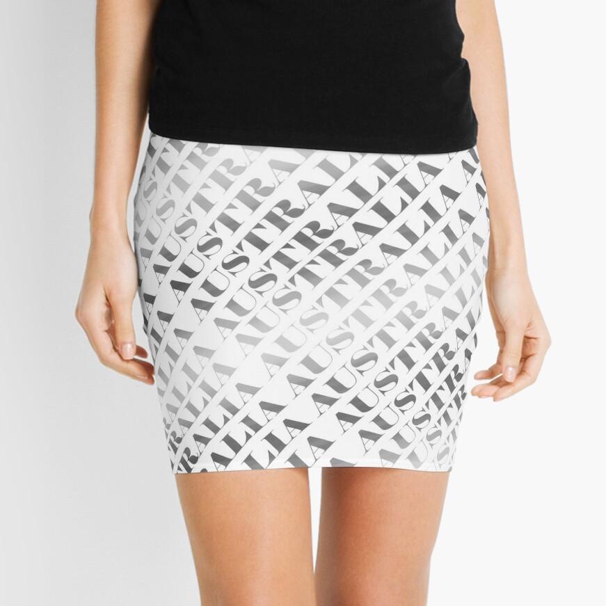 Adelaide Riverbank at Night (poster on white) Mini Skirt