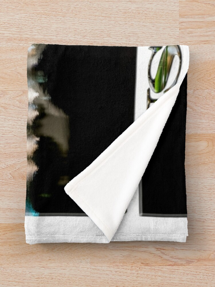Alternate view of Adelaide Riverbank at Night (poster on white) Throw Blanket