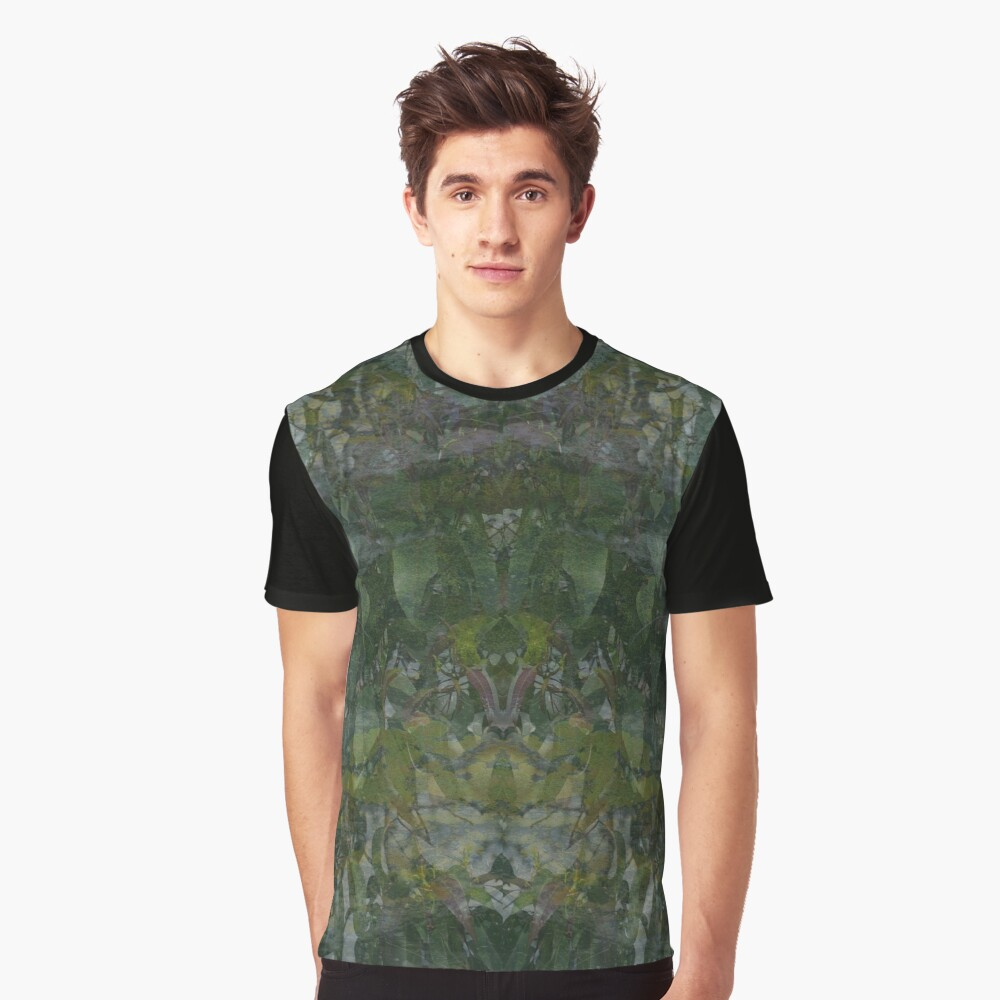 Forest and Rock Montage fabric design Graphic T-Shirt