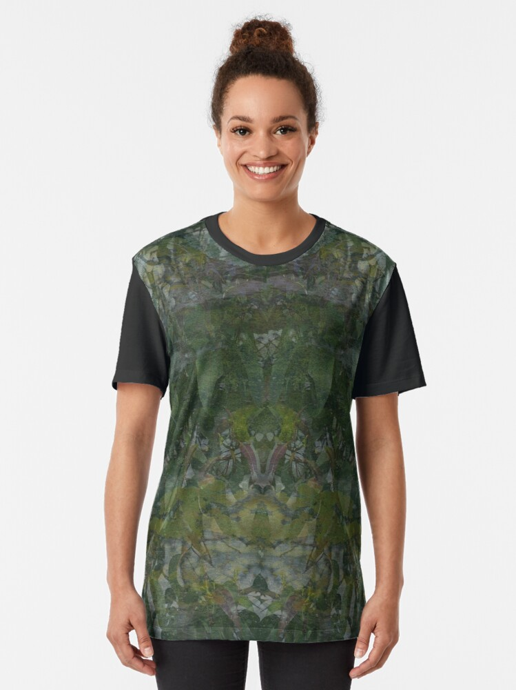 Alternate view of Forest and Rock Montage fabric design Graphic T-Shirt