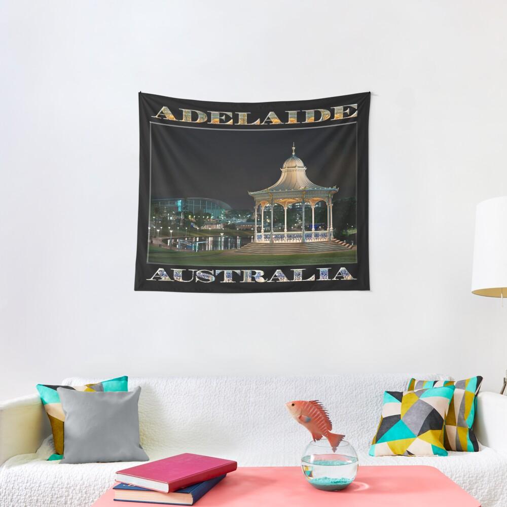 Illuminated Elegance (poster on black) Tapestry