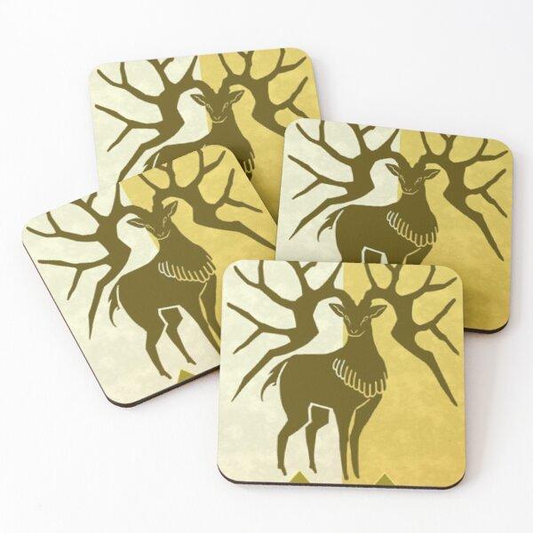 Golden Deer Coasters (Set of 4)