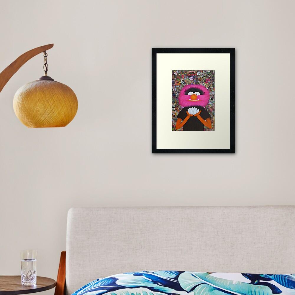 Self Portrait As Muppet Framed Art Print