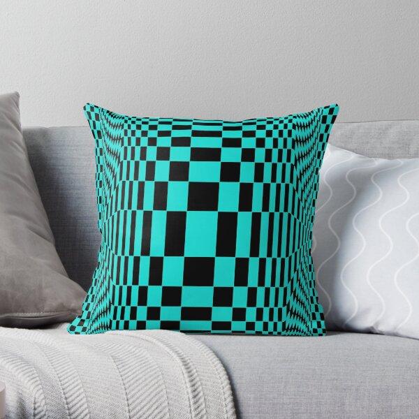 #OpArt, #visual #illusion, #VisualArt, opticalart, opticalillusion, opticalillusionart, opticalartillusion, psyhodelic, psichodelic, psyhodelicart Throw Pillow