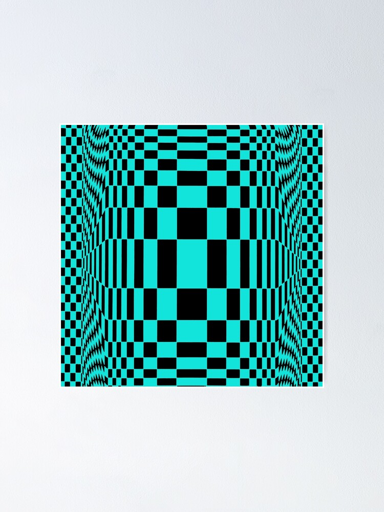 Alternate view of #OpArt, #visual #illusion, #VisualArt, opticalart, opticalillusion, opticalillusionart, opticalartillusion, psyhodelic, psichodelic, psyhodelicart Poster