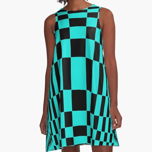 #OpArt, #visual #illusion, #VisualArt, opticalart, opticalillusion, opticalillusionart, opticalartillusion, psyhodelic, psichodelic, psyhodelicart A-Line Dress