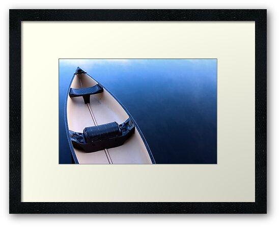 Canoe on Kennebec Lake, Arden Ontario by Debbie Pinard