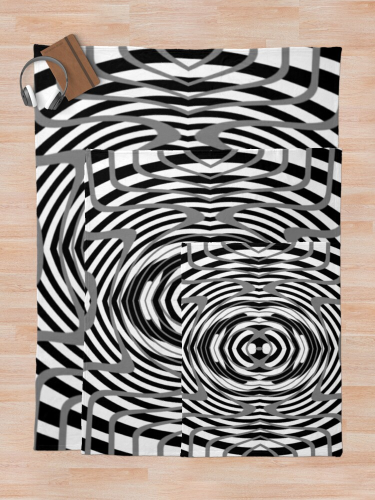 Alternate view of #OpArt, #visual #illusion, #VisualArt, opticalart, opticalillusion, opticalillusionart, opticalartillusion, psyhodelic, psichodelic, psyhodelicart Throw Blanket