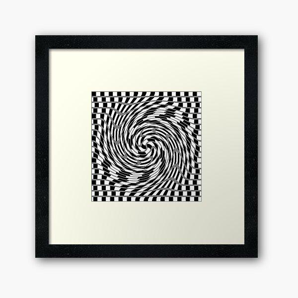 #OpArt, #visual #illusion, #VisualArt, opticalart, opticalillusion, opticalillusionart, opticalartillusion, psyhodelic, psichodelic, psyhodelicart Framed Art Print