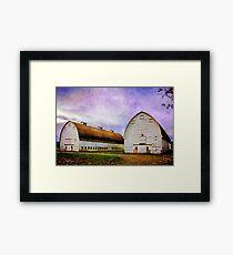 Nisqually Barns  Framed Print