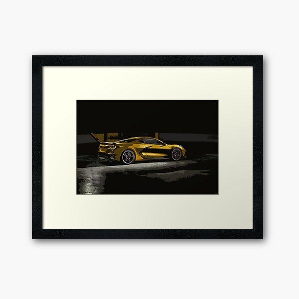 Chevrolet Corvette C8 Framed Art Print
