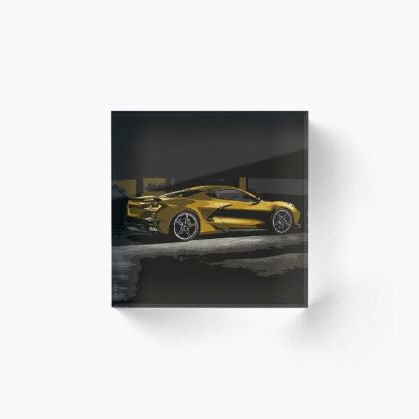 Chevrolet Corvette C8 Acrylic Block