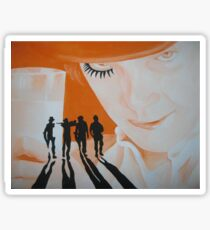 A cLocKWoRk oRangE Sticker