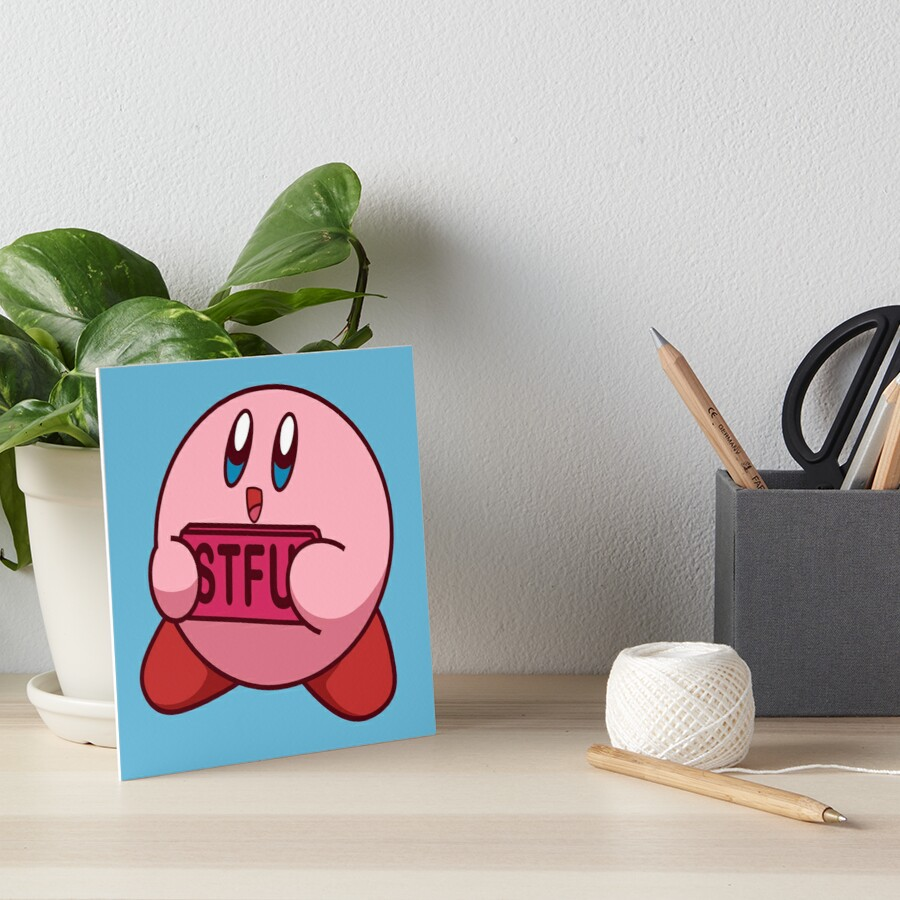 STFU Kirby Art Board Print