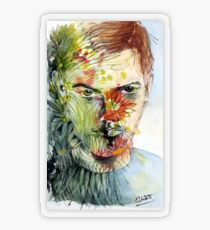 The Green Man Emerges Transparent Sticker