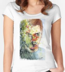 The Green Man Emerges Fitted Scoop T-Shirt