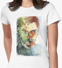 The Green Man Emerges Fitted T-Shirt