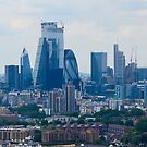 A rooftop view into the City of London by Tom Ryan-Elliott
