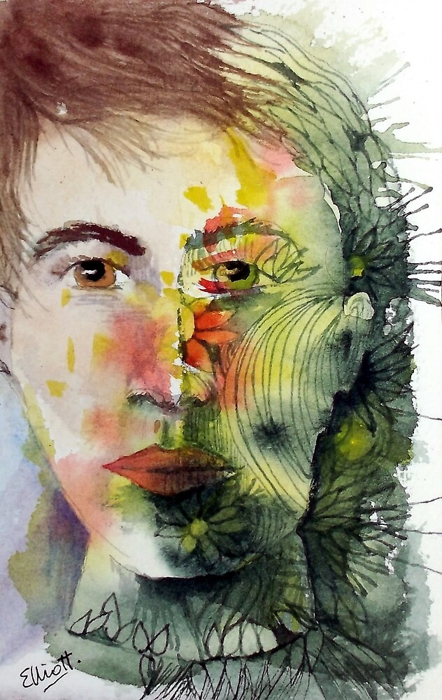 The Green Man Recedes by Pat  Elliott