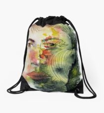 The Green Man Recedes Drawstring Bag