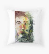 The Green Man Recedes Floor Pillow