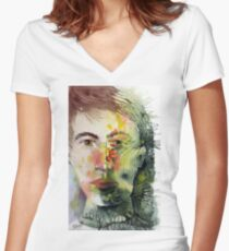 The Green Man Recedes Fitted V-Neck T-Shirt