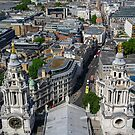 Looking down from a rooftop view of St Pauls by Tom Ryan-Elliott