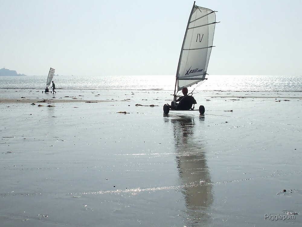 Beach racing by Pigglepum