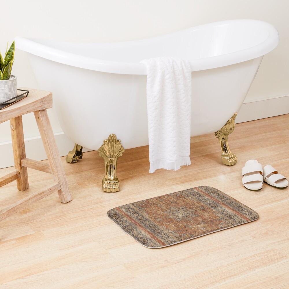 Antique Orian rug Bath Mat