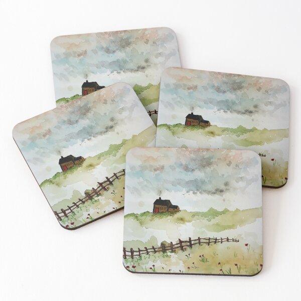 Watercolour House Coasters (Set of 4)