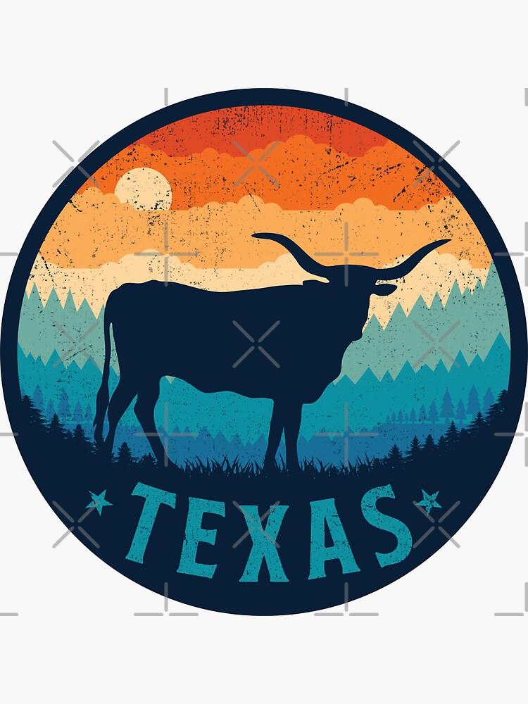 Texas Retro Longhorn by TigerTomDesign