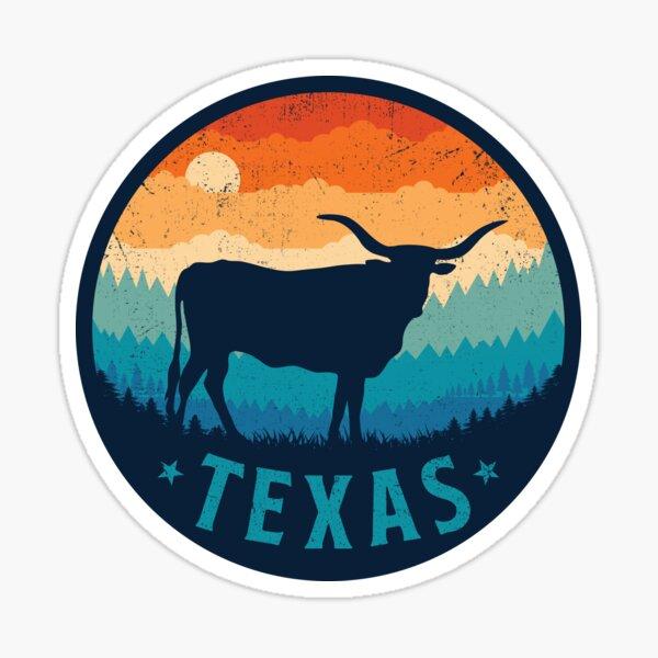 Texas Retro Longhorn Sticker