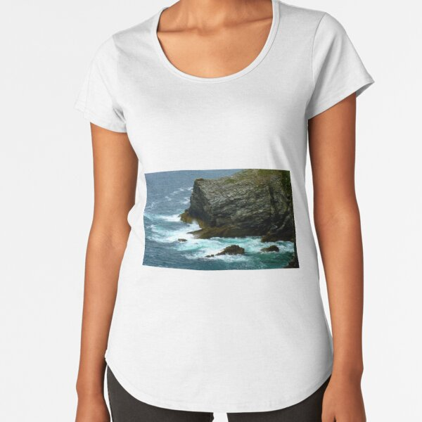 Cornish Cliffs - the wild coast of Tintagel Premium Scoop T-Shirt