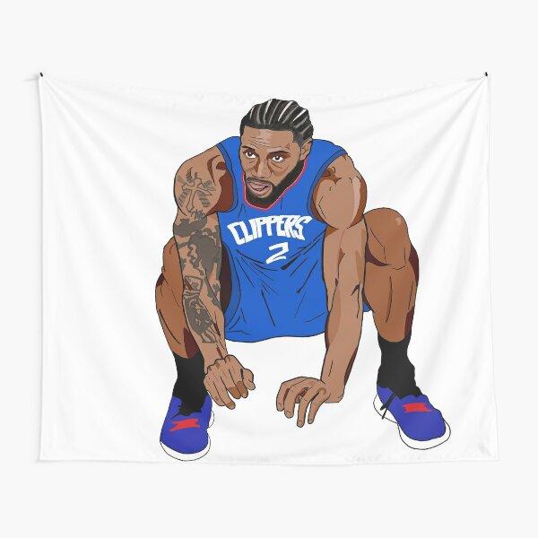 Kawhi Leonard Clippers Squat Tapestry