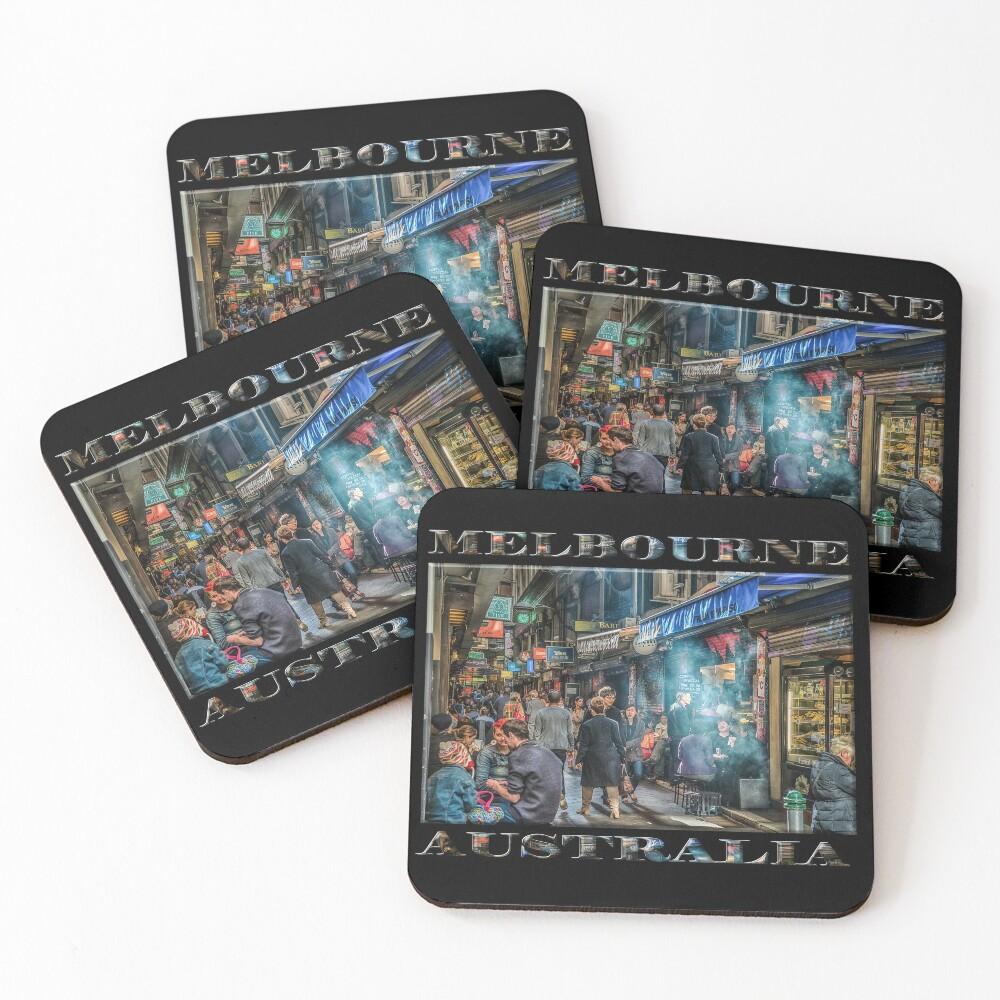 Deckard's Lane (poster on black) Coasters (Set of 4)