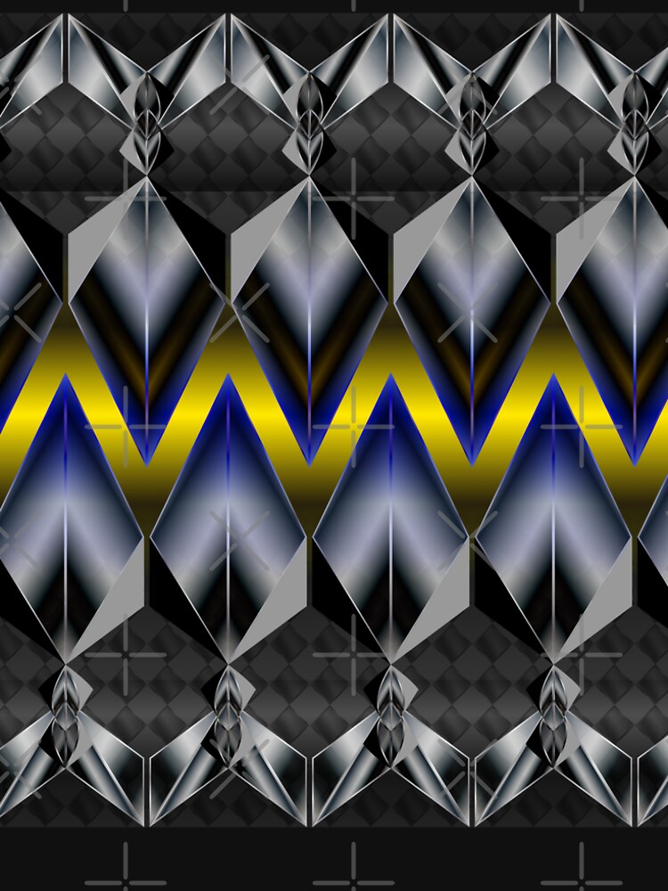 Metallight Overlord Yellow Seamless Pattern by uniiunMB